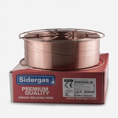 Drut spawalniczy SIDERGAS S6 (SG2, G3Si1), szpula metalowa typu BS300-18kg